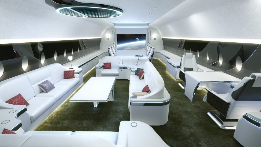 Conceito de cabine para o novo ACJ350 XWB (Airbus)