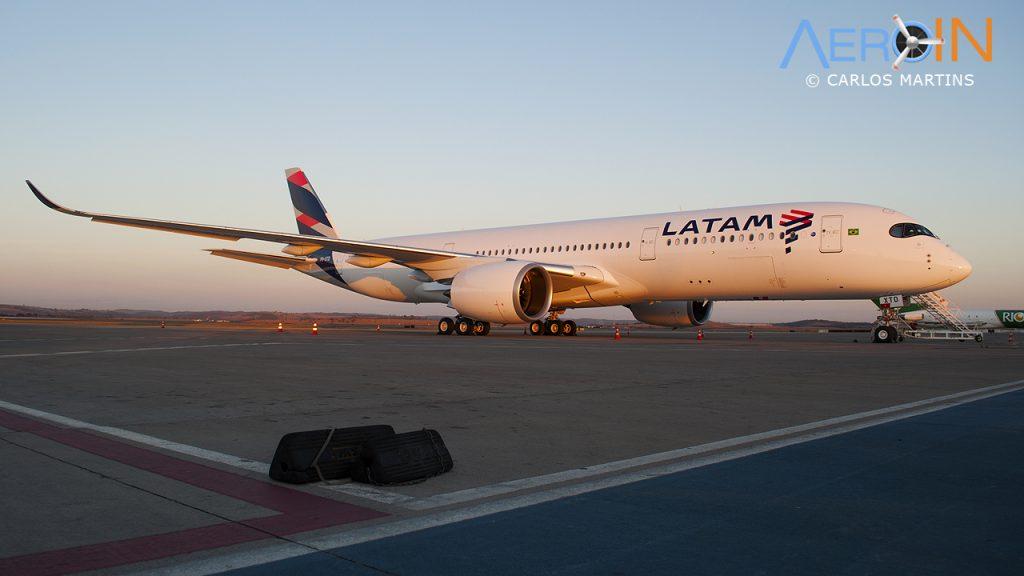 A350 LATAM laranja