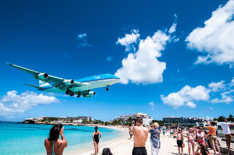 klm-saint-marteen-747