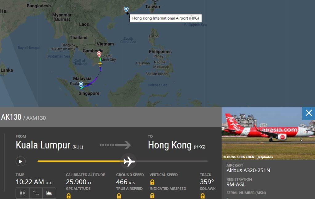 FlightRadar24 Voo AirAsia Incêndio Bateria Backup