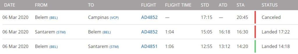 FlightRadar24 Programação PR-YNF
