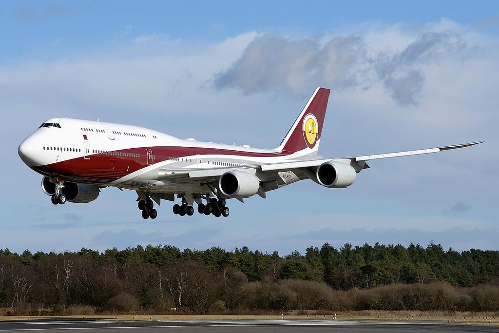 avião Boeing 747-8i Catar Turquia