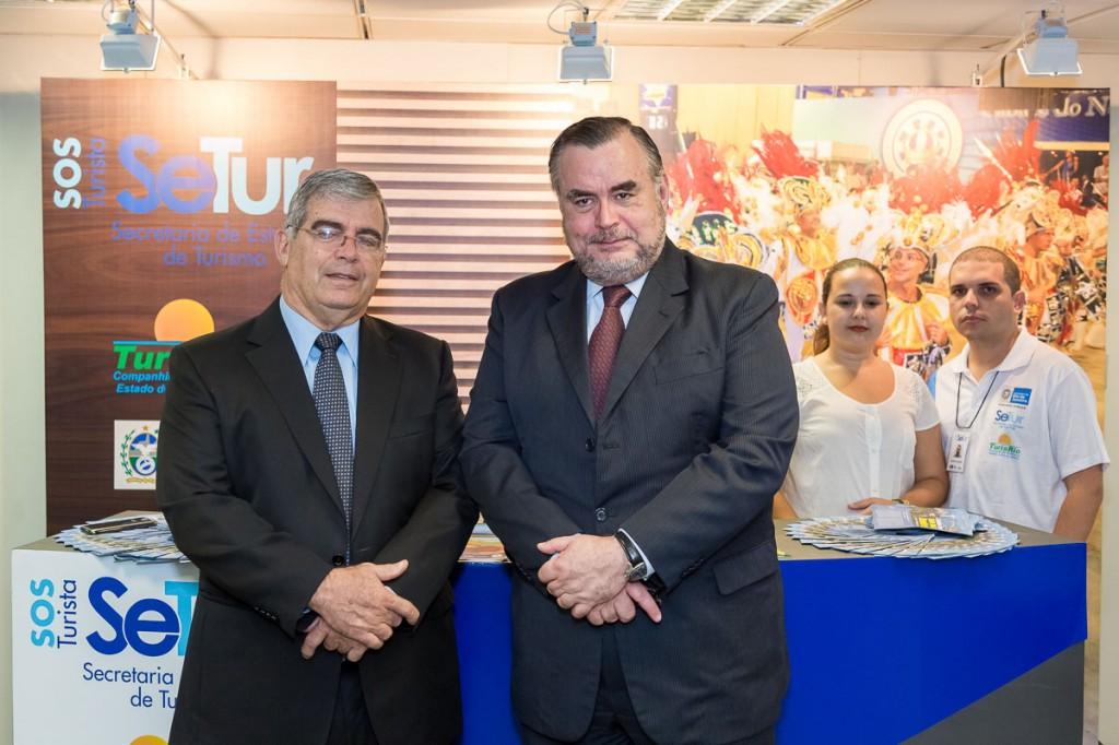 Carlos Luiz Martins (Subsecretário de Turismo - Ex Presidente da Varig) Claudio Magnavita (Secretário de Turismo RJ)