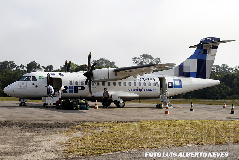 O ATR-42 da TRIP é uma das aeronaves usadas pelos grupos de pescadores