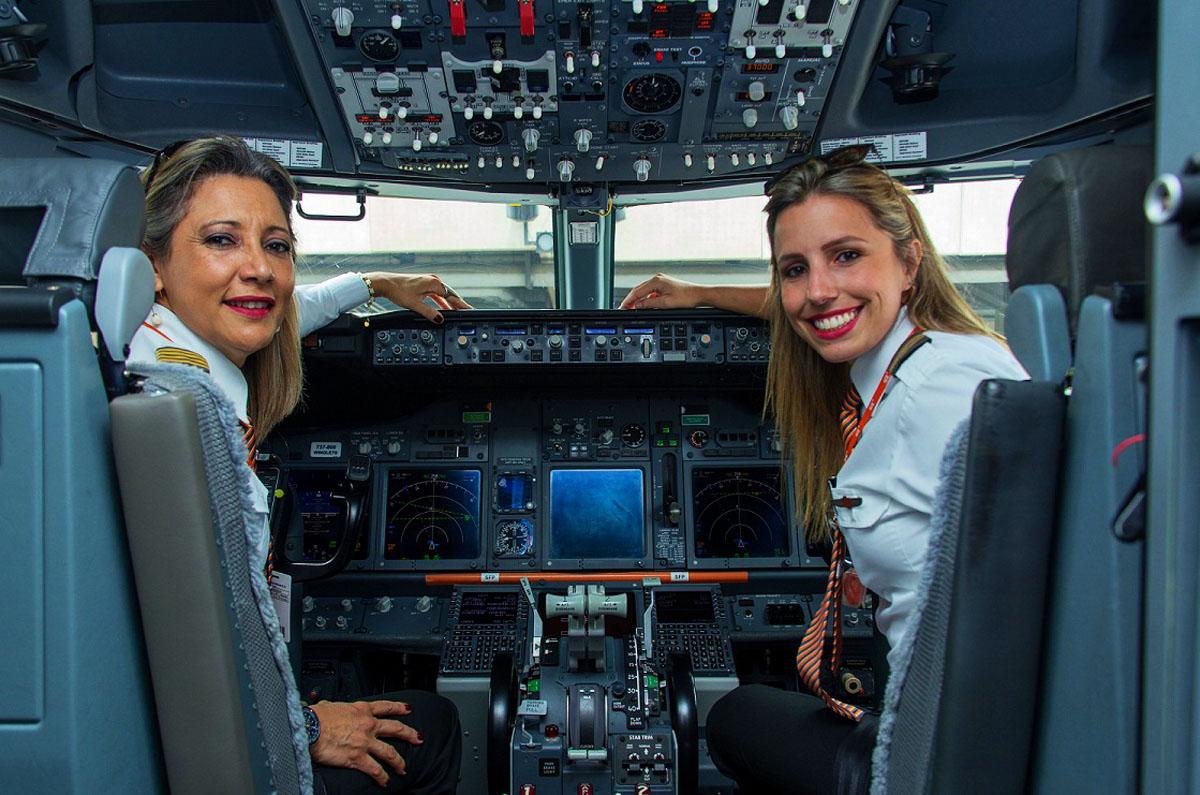 Angelita Araújo (comandante) E Paula Ribeiro Petean (co-piloto)