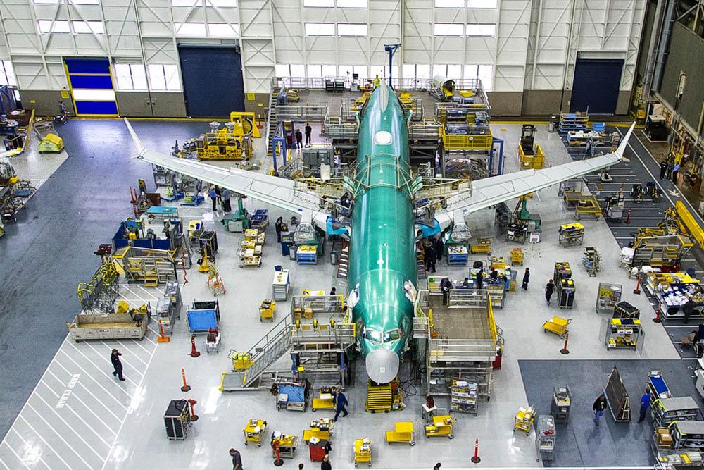 Linha de Montagem Boeing 737 MAX 8