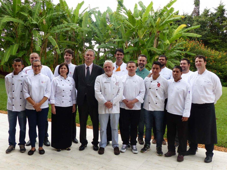 Chefs brasileiros se reunem com embaixador francês. Foto: Embaixada Francesa