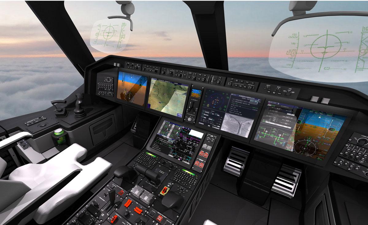 Aviônicos de última geração serão fornecidos pela Rockwell Collins (Foto: Divulgação)