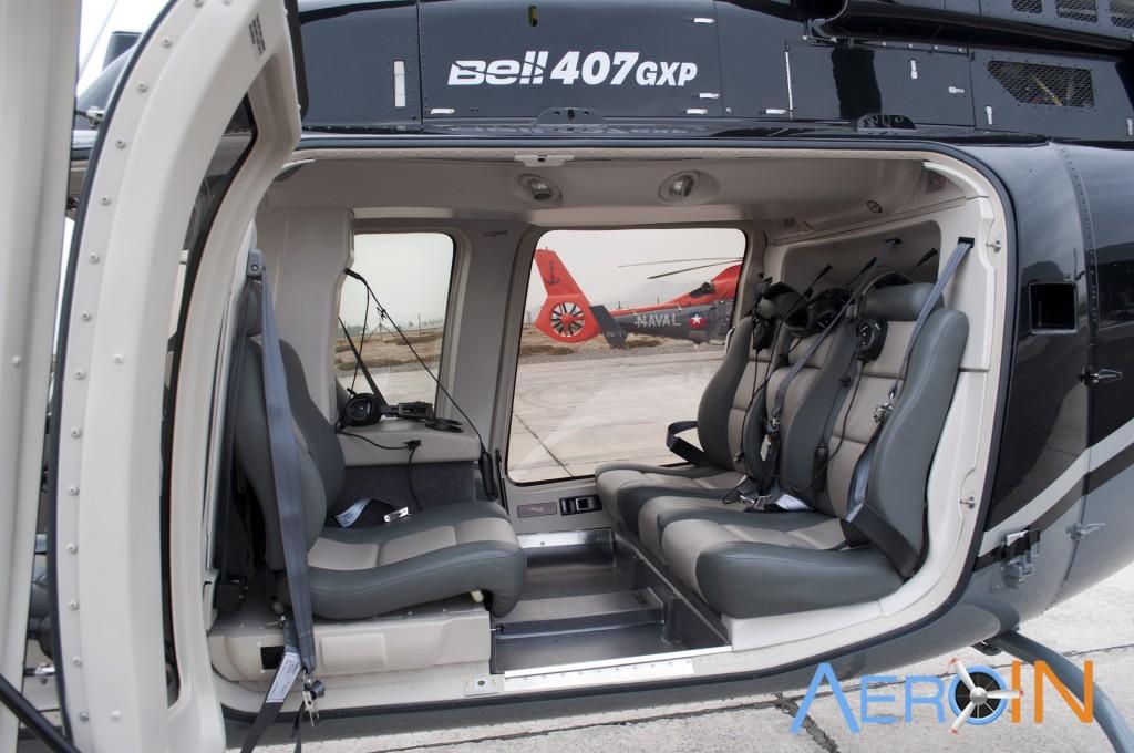 bell 407 interior cabine passageiros