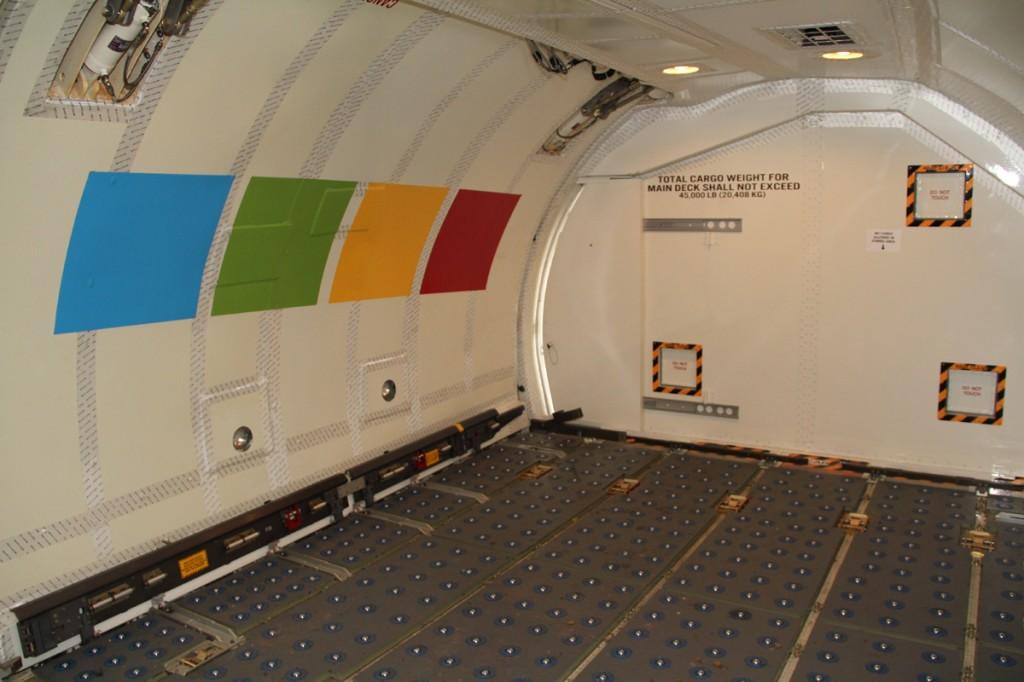 Interior Boeing 737 Modern Logistics Cargo