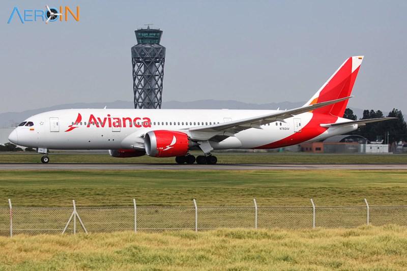 Boeing 787-8 Dreamliner da Avianca em Bogotá