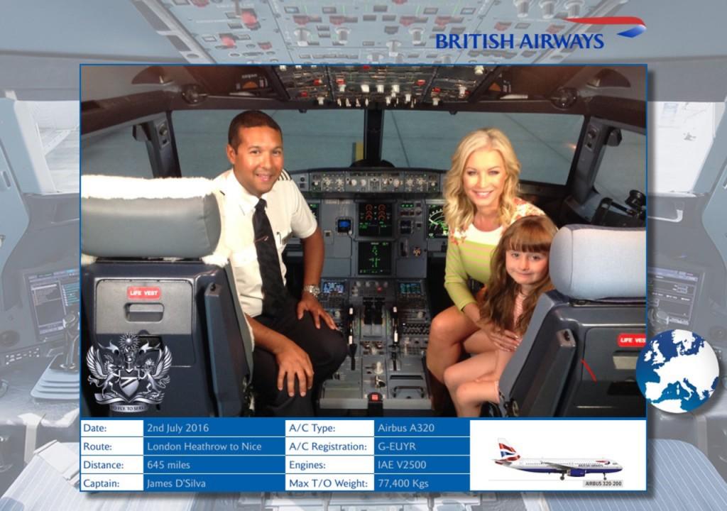 Denise van Outen with British Airways