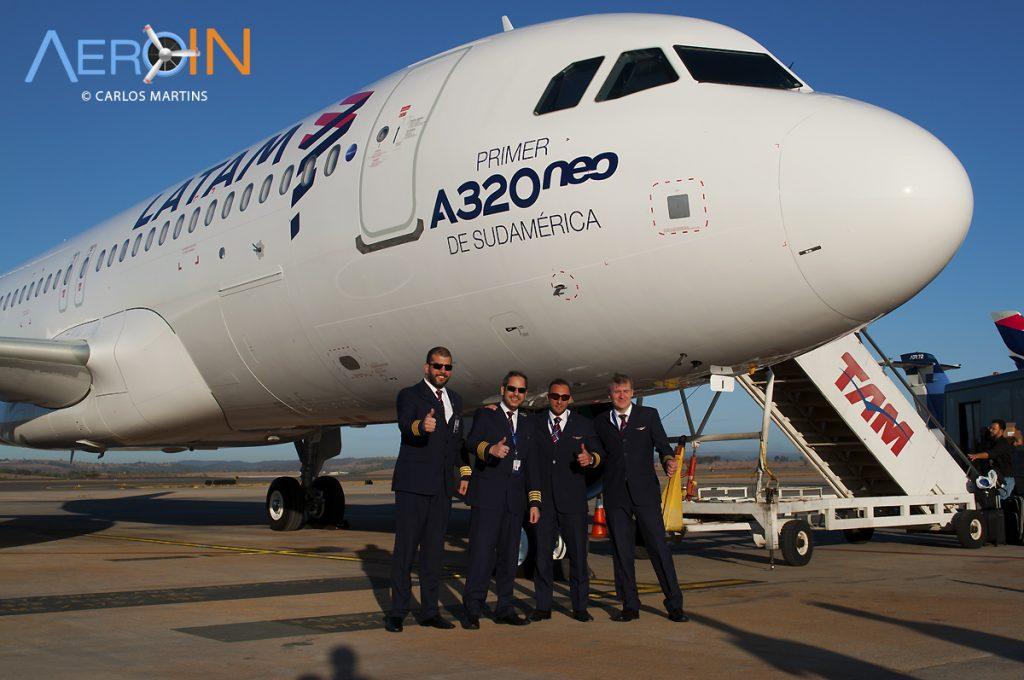 A320neo LATAM Pilotos Daniel Ribas, Gerber, Lipe e Danilo Oliveira