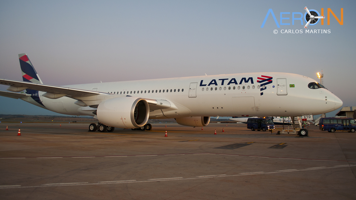 A350 LATAM parked