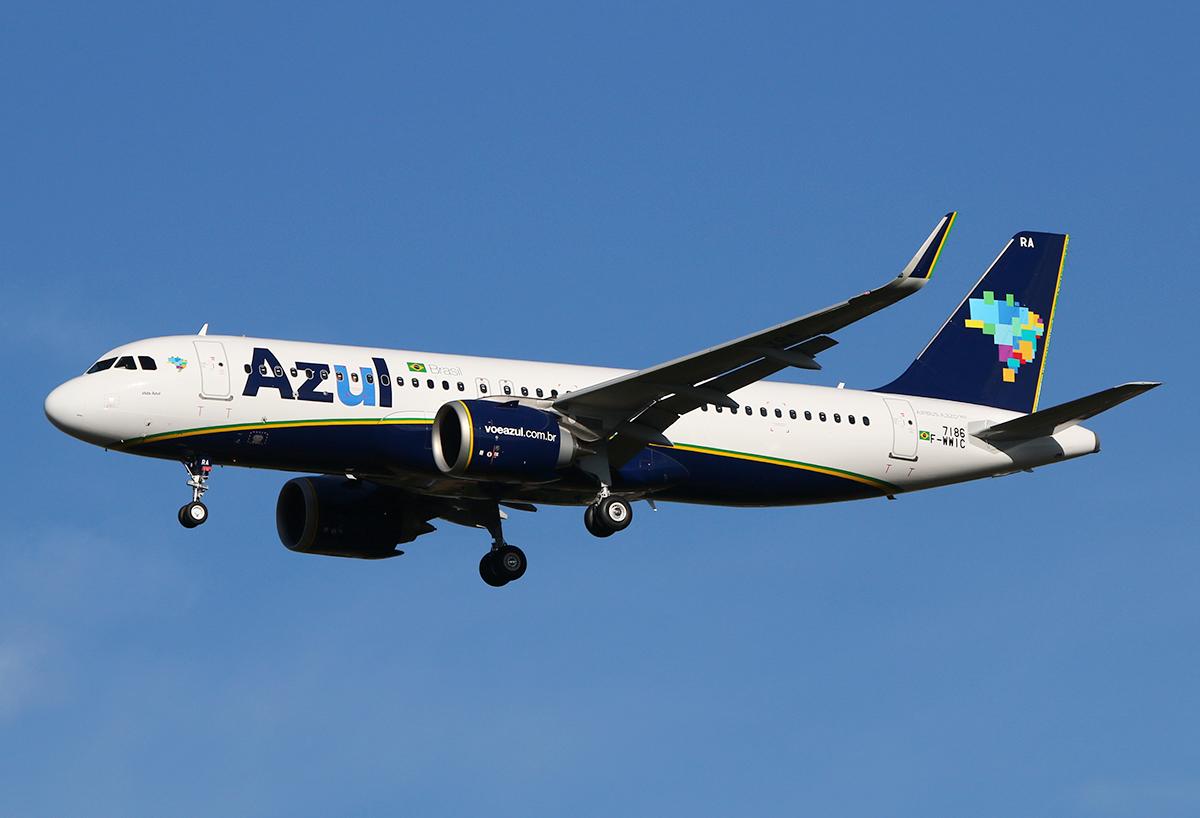 Primeiro Airbus A320neo da Azul chega amanhã no Brasil
