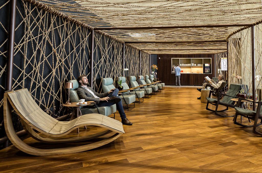 Lounge da Star Alliance no GRU Airport.