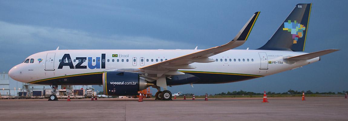 Chegou o A320neo da Azul