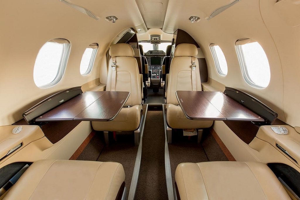 Embraer Phenom 100 interior JetSuite