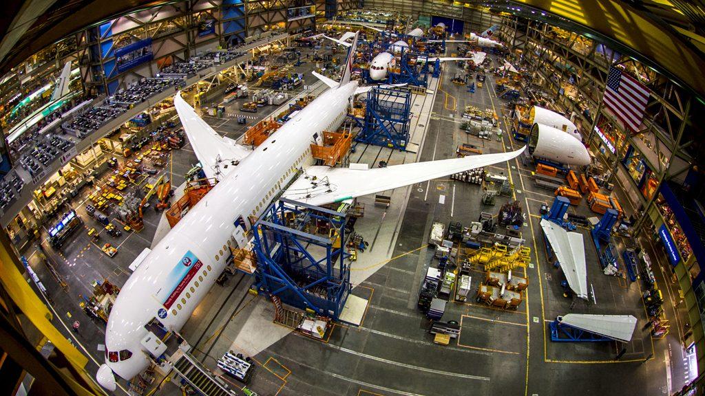 Avião Boeing 787 Linha Produção