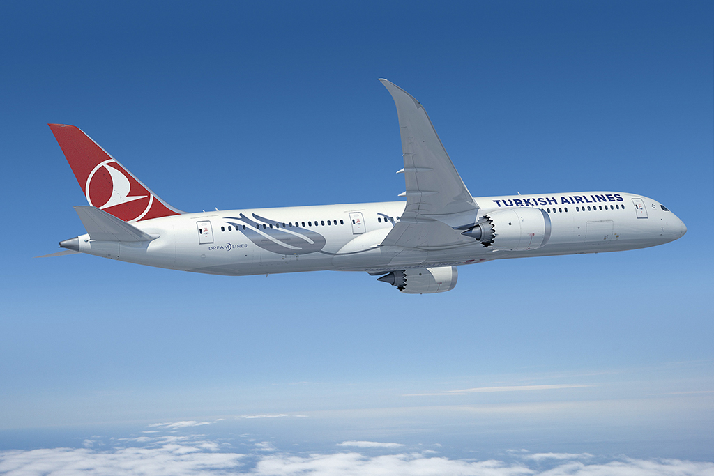 Avião Boeing 787-9 Turkish