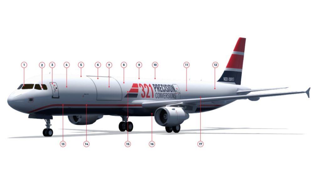 Avião Airbus A321PCF Cargueiro Precision