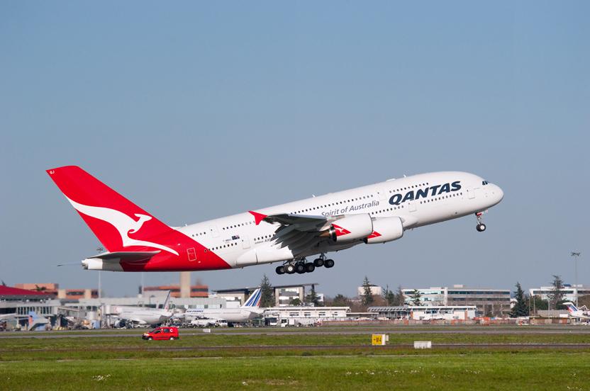 Avião Airbus A380 da Qantas