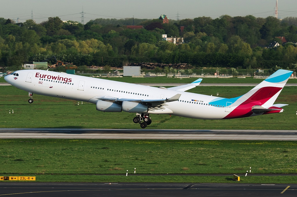Avião Airbus A340 Eurowings