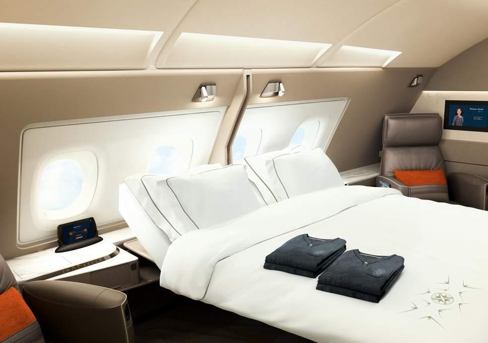 Avião Airbus A380 Singapore Interior Suíte