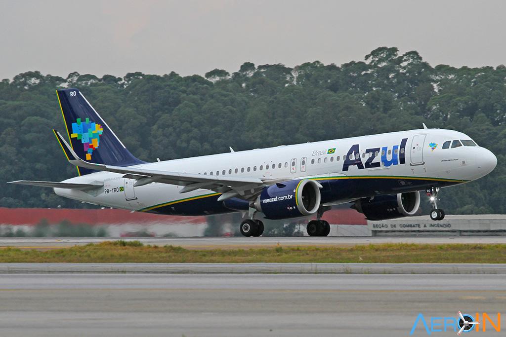 Avião Airbus A320neo novas bases da Azul