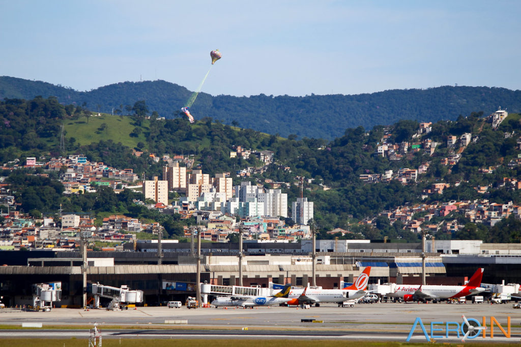 Balão aeroporto de Guarulhos