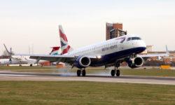 Avião Embraer E190 da British