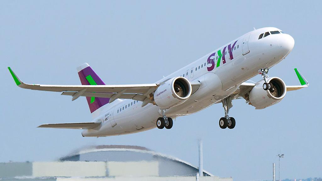 Avião Airbus A320neo Sky Airline