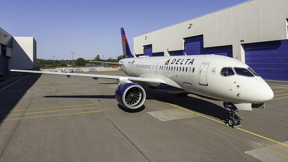 avião Airbus A220 da Delta