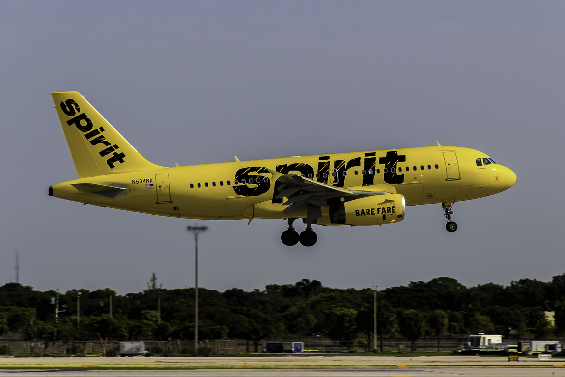 Avião Airbus A319 Spirit Airlines