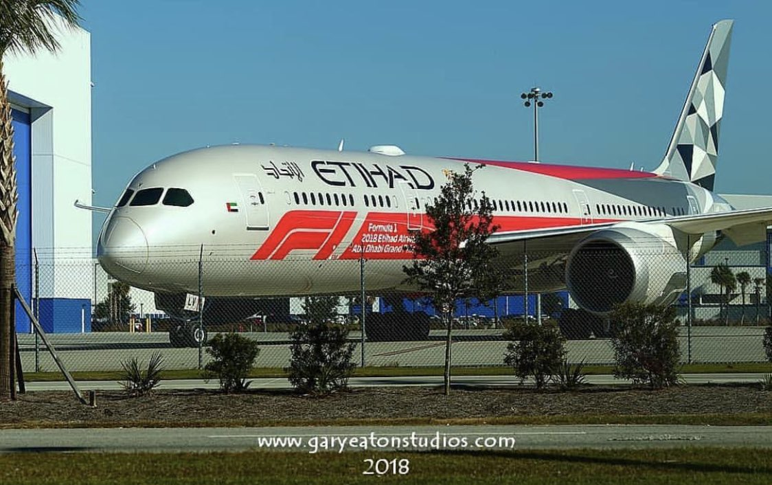 Avião Boeing 787-9 Dreamliner Etihad Formula 1