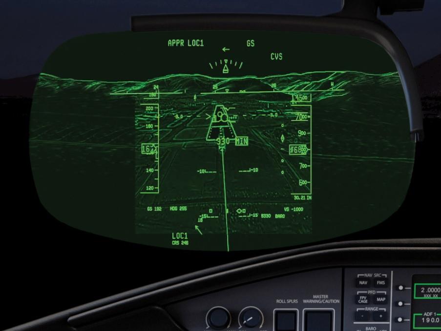 Sistema de Visão Combinada (CVS) da Bombardier