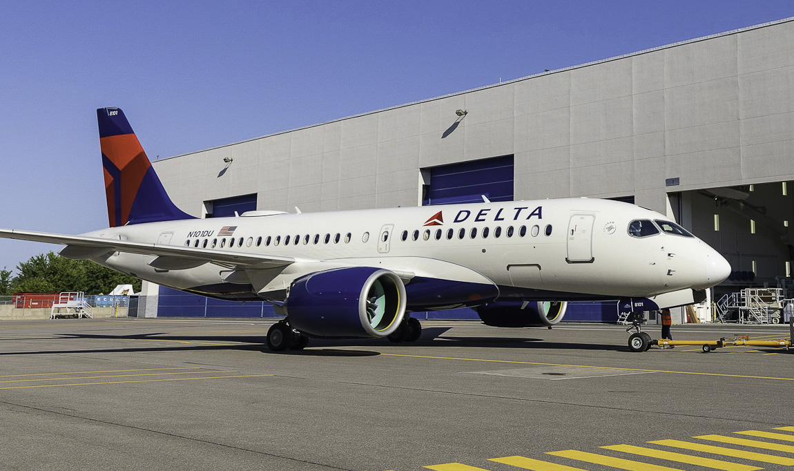 Avião Airbus A220 Delta
