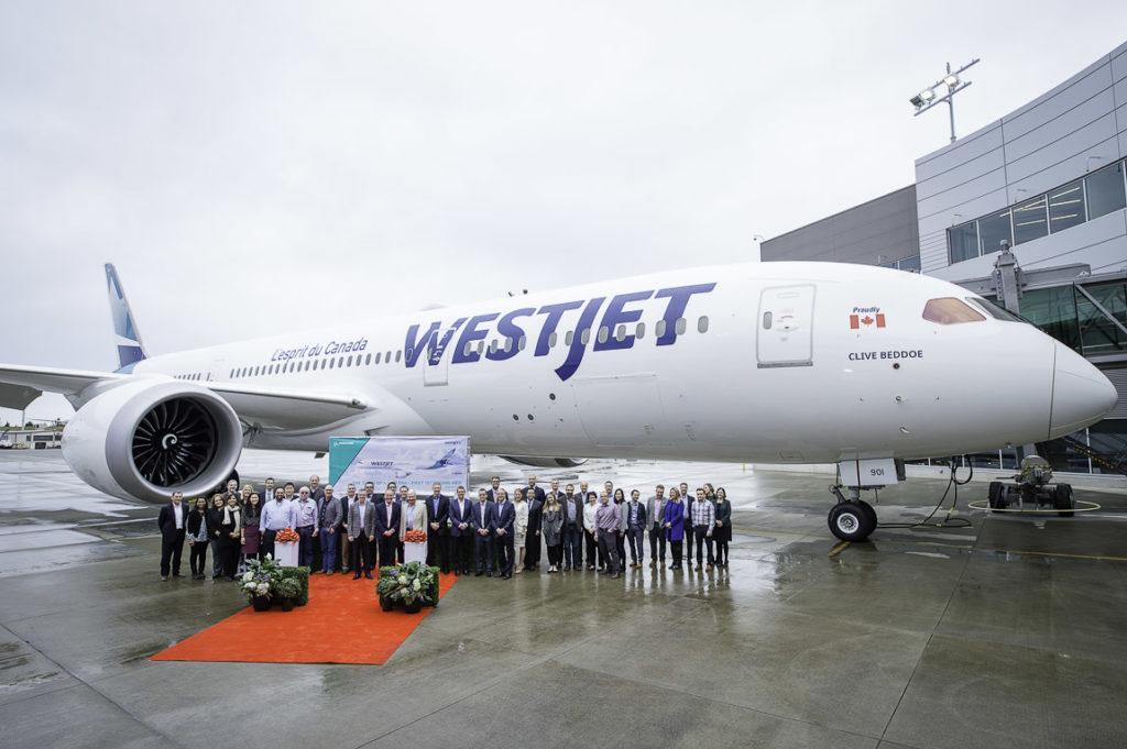Avião Boeing 787-9 Dreamliner WestJet