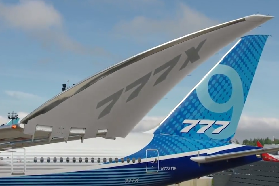 Avião Boeing 777X Asas Dobráveis Folding Wings
