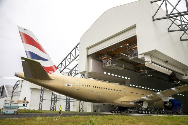 British Airways first A350-1000