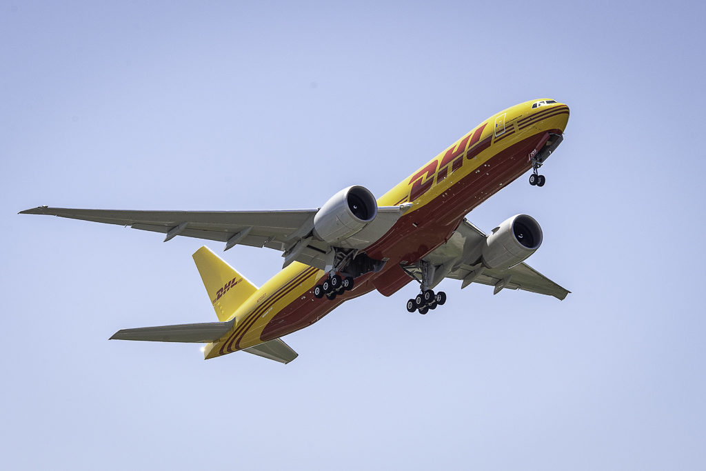 First Airplane Boeing 777F DHL