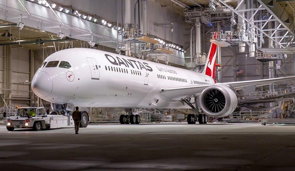 Avião Boeing 787 Qantas