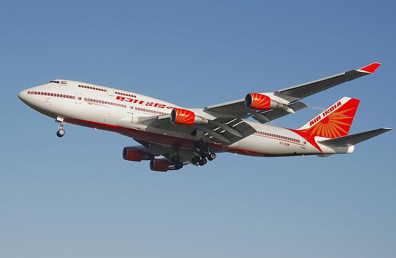 Avião Boeing 747 Air India passageiros