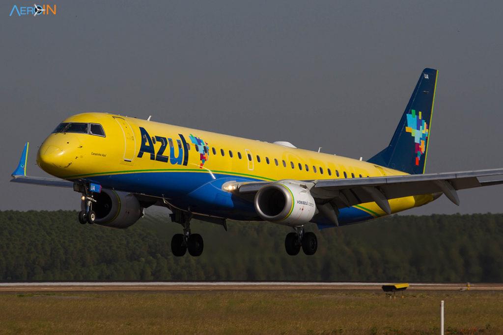 Azul Embraer E195 Amarelo