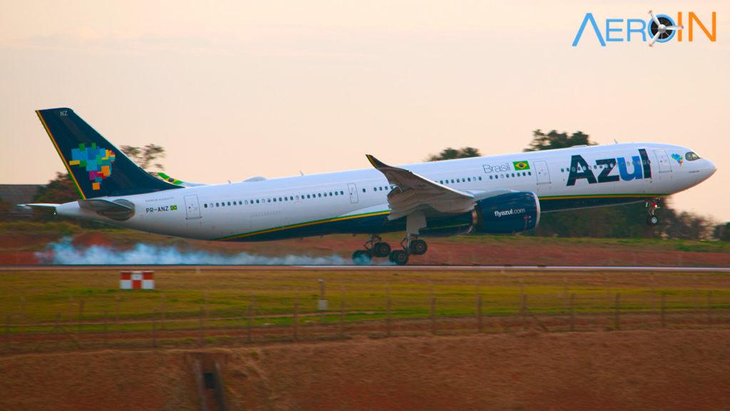 Airbus A330-900neo da Azul pousa em Viracopos oriundo de Lisboa