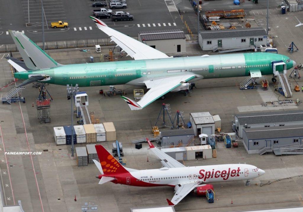 Paine Airport Air Picture 777X Emirates