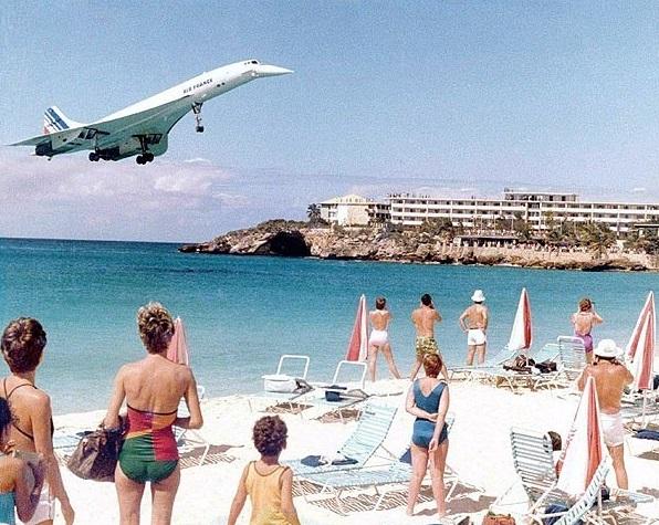 Avão Concorde Praia St. Marteen