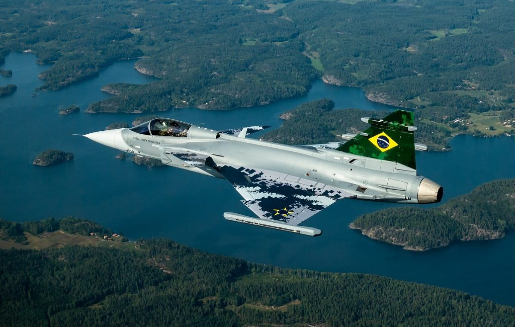 Avião Caça SAAB Gripen Brasil