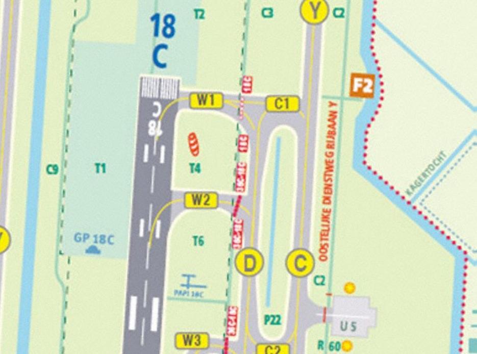 Mapa Aeroporto Amsterdã Schiphol