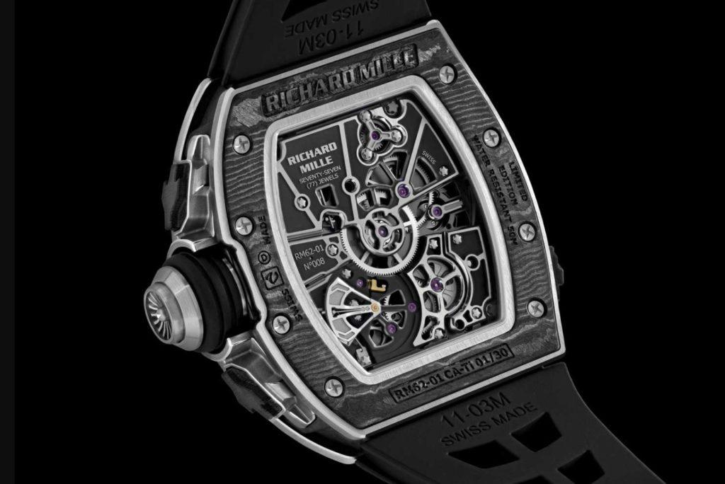 Relógio Airbus ACJ Richard Mille RM62-01 Traseira